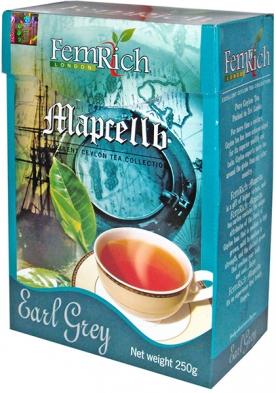 Чай МАРСЕЛЬ - Чёрный с бергамотом